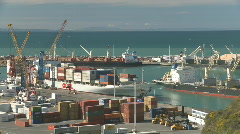 Ships at work in port time lapse Stock Footage