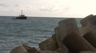 Tugboat Jetty 01 Stock Footage