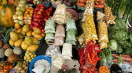 Stock Video Footage of Walking through Andean market