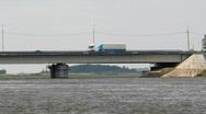 Bridge with cars Stock Footage
