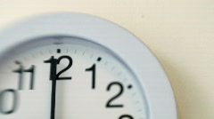WallClock002 Stock Footage
