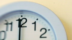 WallClock001 Stock Footage