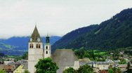 Alps Church Timelapse Stock Footage