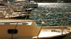 Luxury yachts are in the bay Stock Footage