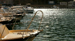 Several small boats Stock Footage