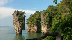 James Bond Island in Phuket, Thailand Stock Footage