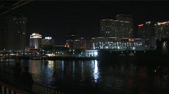 New Orleans River Front at Night - stock footage
