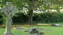 Angel grave 2 Stock Footage