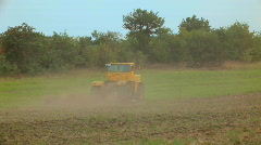Large farm tractor Stock Footage
