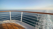 Stock Video Footage of railing on top deck of cruise ship