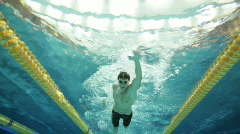 Male Swimmer Stock Footage