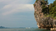 Stock Video Footage of Tourists arrive at James Bond Island in Phuket, Thailand