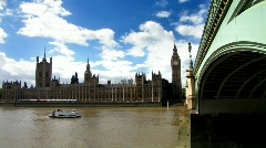 Westminster bridge & Parliament Stock Footage