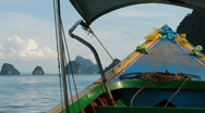 Stock Video Footage of Boat Ride through Phang Nga Bay