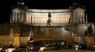 Stock Video Footage of Vittoriano at night, Rome