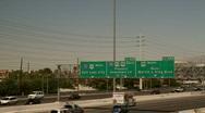 Interstate 15 in Las Vegas Stock Footage