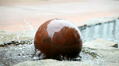 Rolling ball fountain  Stock Footage