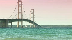 Mackinac Bridge Stock Footage