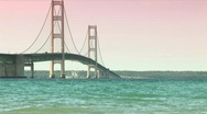 Stock Video Footage of Mackinac Bridge