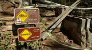 Danger Keep Off Sign Stock Footage