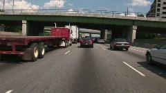 in Heavy traffic - stock footage