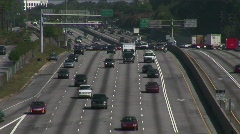 Lanes of Traffic 2 Stock Footage