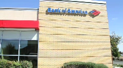 Bank of America (Multiple Shots) - stock footage