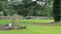 Pan to desecrated grave Stock Footage