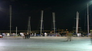 Time lapse. Night quay of Yalta.  Stock Footage