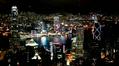 Hong Kong  Night Timelapse Stock Footage