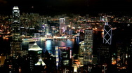 Stock Video Footage of Hong Kong  Night Timelapse