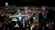 Hong Kong  Night Timelapse Stock Footage