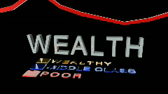 Wealth graphic and info Stock Footage