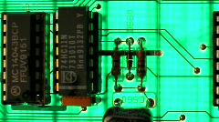 Circuit Board Pan and Scan - Clip 2 Stock Footage
