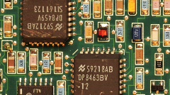 Circuit Board Pan & Scan - Clip Stock Footage