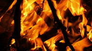 Camp Fire, Close-up Stock Footage