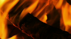 Camp Fire, Detail Stock Footage