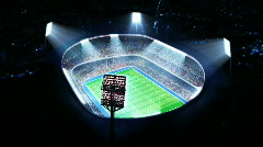 American football stadium. Top view. Stock Footage