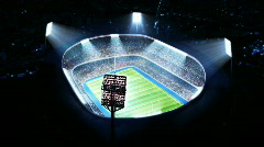 Rugby arena, stadium. Top view. - stock footage