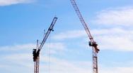 Cranes Stock Footage