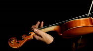 Stock Video Footage of Musician playing violin