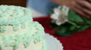Stock Video Footage of completed cake