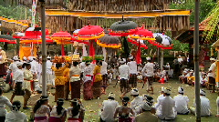 Bali Temple Ceremony 59 Stock Footage