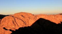 Mount Sinai. Sunrise Stock Footage