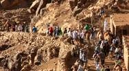 Stock Video Footage of Pilgrims. Moses Mountain. Sinai Peninsula. Egypt