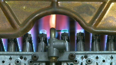 Gas boiler heater burning Stock Footage