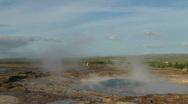 Geyser erupts Stock Footage