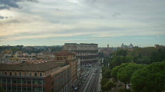 Colosseum Day-to-Night Timelapse Stock Footage