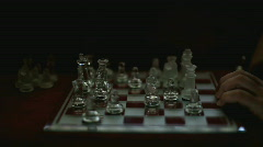 Dramatically lit chess board Stock Footage