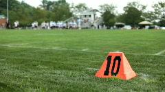 10 yard line on Football field Stock Footage